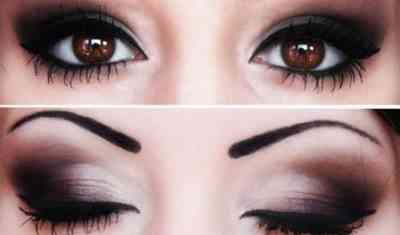 Скромный макияж для карих глаз 53