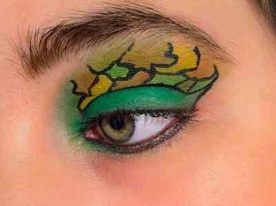 Фото макияж глаз в зеленых тонах фото