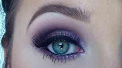 Макияж под синее вечернее платье зеленые глаза русая