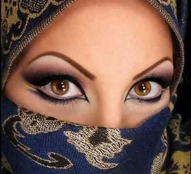 Арабский макияж карие глаза