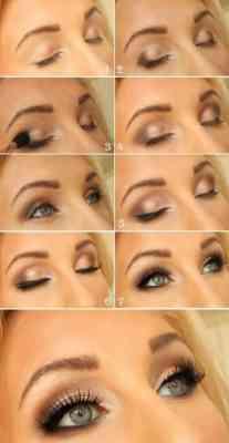 Дневной макияж для серых глаз на работу