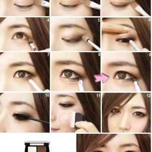 Корейский макияж для глаз поэтапно 12